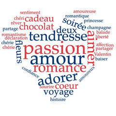 French words about Love and Valentine's day