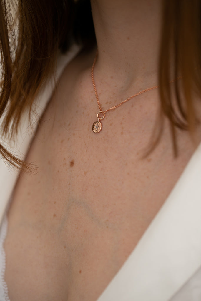 Rose Gold North Star Pendant Necklace