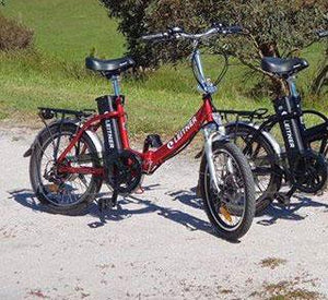 "20"" Step-Thru Folding Electric Bike 