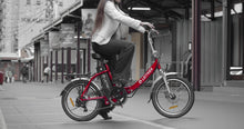 "Load image into Gallery viewer, 20"" Step-Thru Folding Electric Bike 