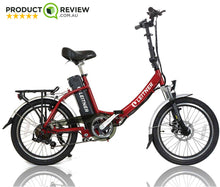 "Load image into Gallery viewer, Discounted 20"" Step-Thru Folding Electric Bike 