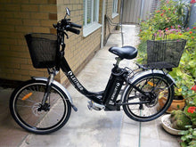 "Load image into Gallery viewer, 26"" Step-Thru Electric Bike 