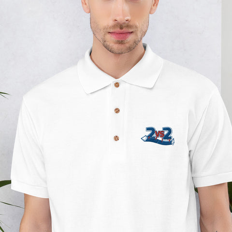 2 vs. 2 Polo-Shirt bestickt