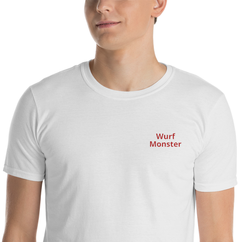 Throwing monster shirt embroidered