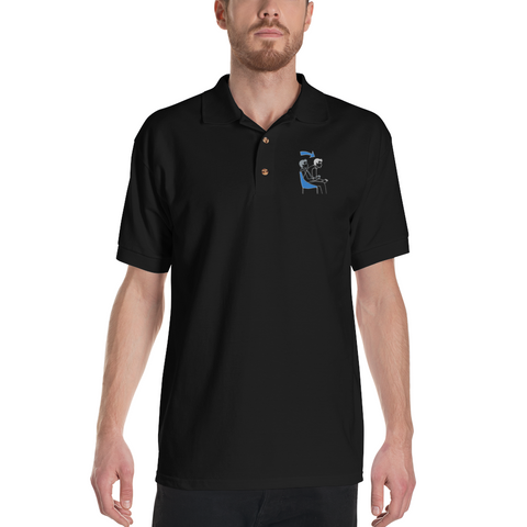 Game Mode Polo-Shirt bestickt
