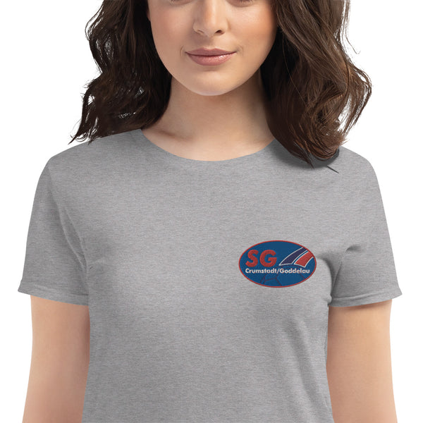 SG Crumstadt / Goddelau Logo Women's T-shirt embroidered