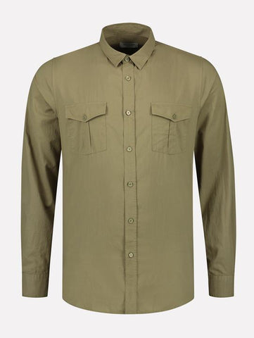 Army Green Voile Shirt