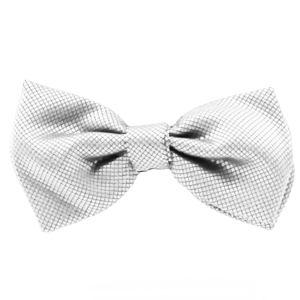 Silver Jacquard Bow Tie by Fellini