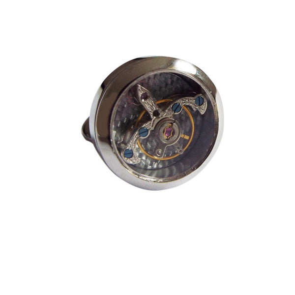 Tourbillon Silver Cufflinks by Tagg