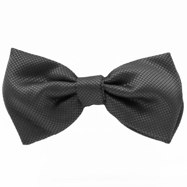 Charcoal Jacquard Bow Tie by Fellini
