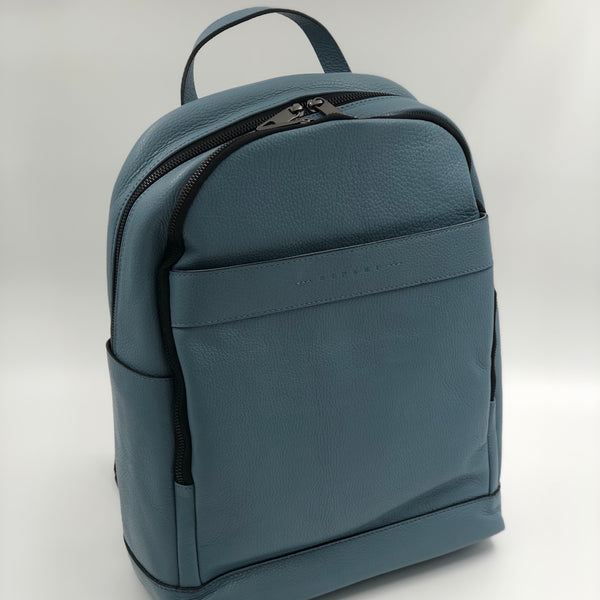 Leather Backpack - Duck Egg Blue
