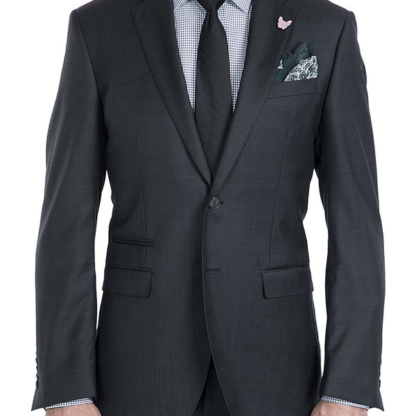 Beta Sharkskin Grey Suit by Gibson