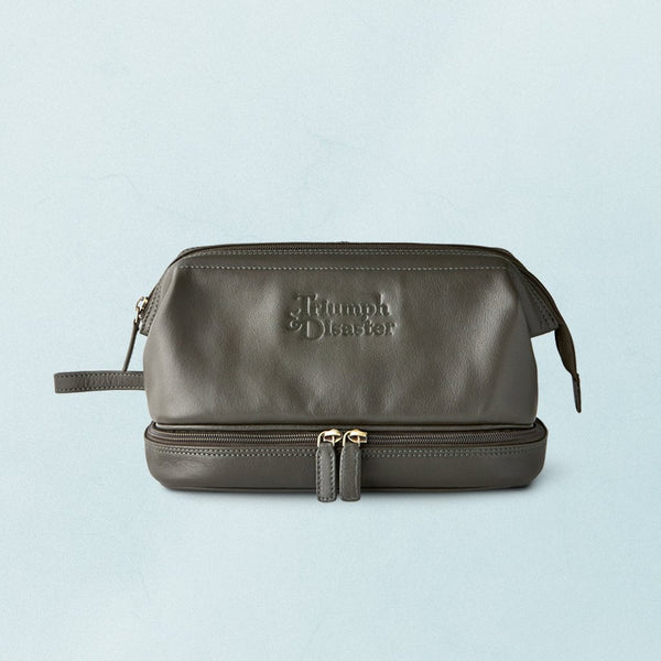 Olive The Dopp Leather Toilet Bag by Triumph & Disaster