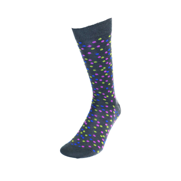 Charcoal Spot Sock by Visconti