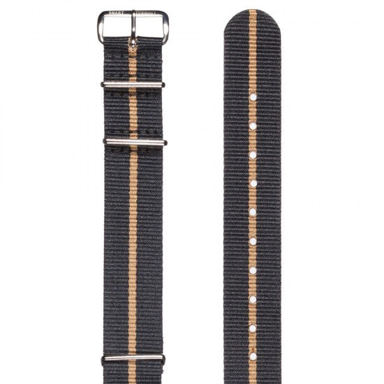 The Buffs 20mm Grosgrain Watch Strap with Silver Fittings