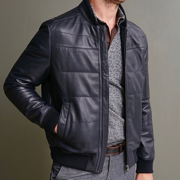 Winter Quilted Leather Jacket by Florentino