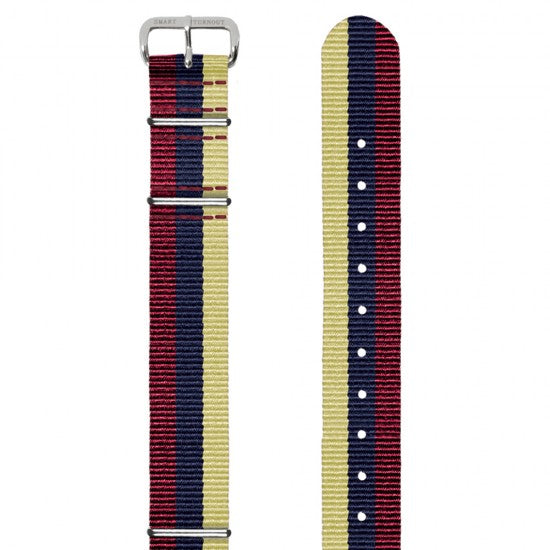Royal Army Medical Corps 18mm Grosgrain Watch Strap with Silver Fittings