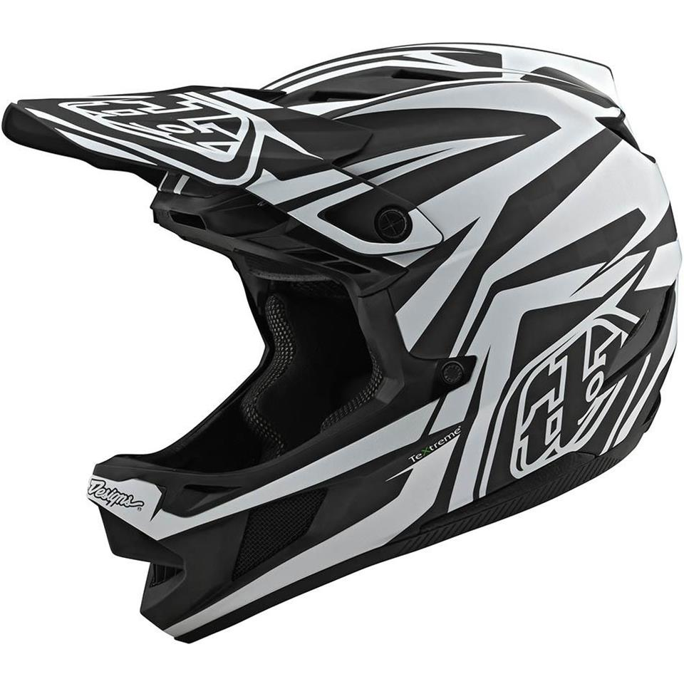 Image of Troy Lee D4 Carbon Race Helmet - Slash Black/White