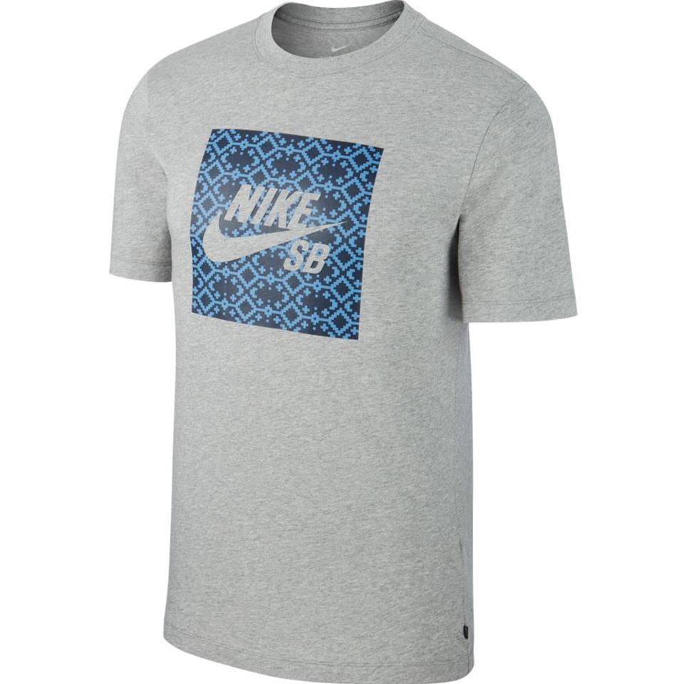 Nike SB Men's Logo Skate T-Shirt - Dark Grey Heather