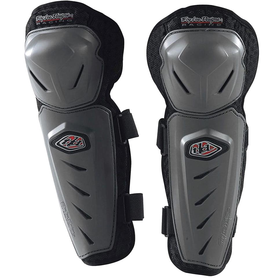 Image of Troy Lee Youth Race Knee Guards - Grey