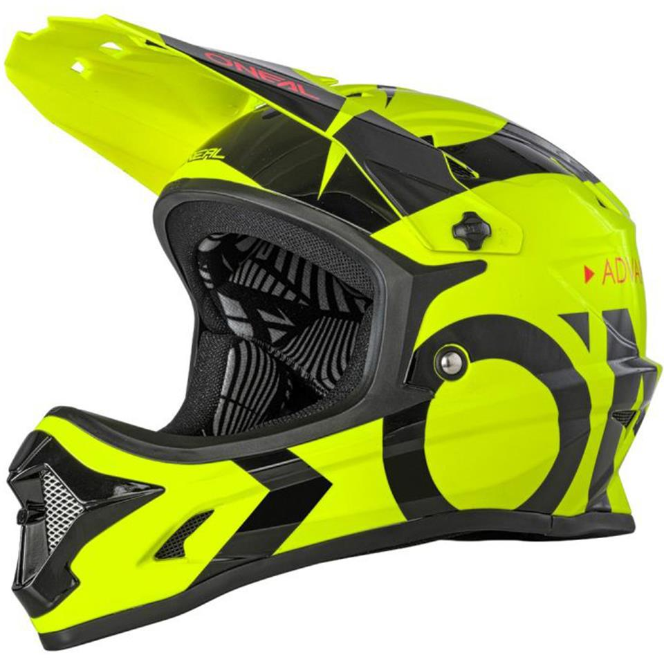 O'Neal Backflip Race Helmet - Slick Neon Yellow/Black