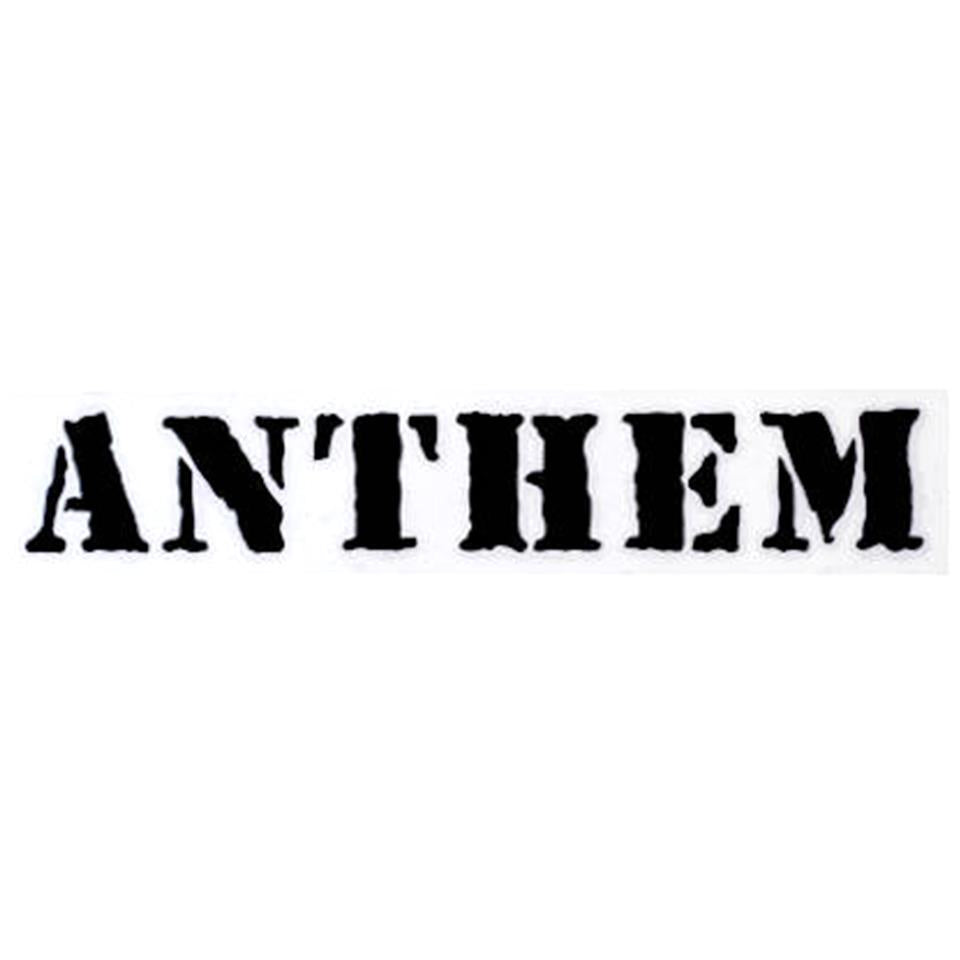 Image of Anthem 2 Die Cut Sticker - Black