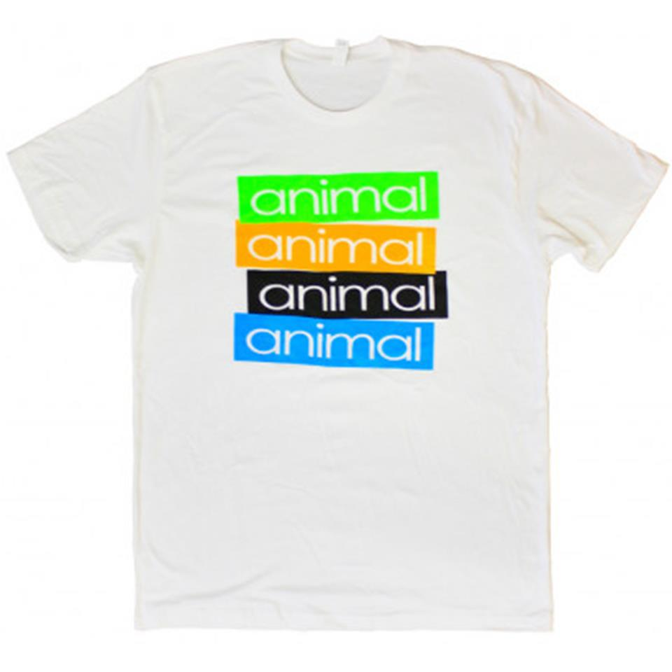 Animal Stickem T-Shirt - White