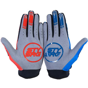 Stay Strong Opposite Youth Race Gloves - Red/Blue