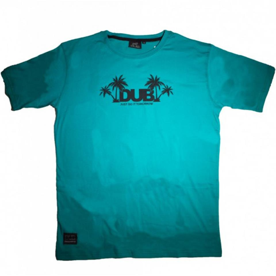 Image of Dub Just Do It Tomorrow T-Shirt - Teal/Black