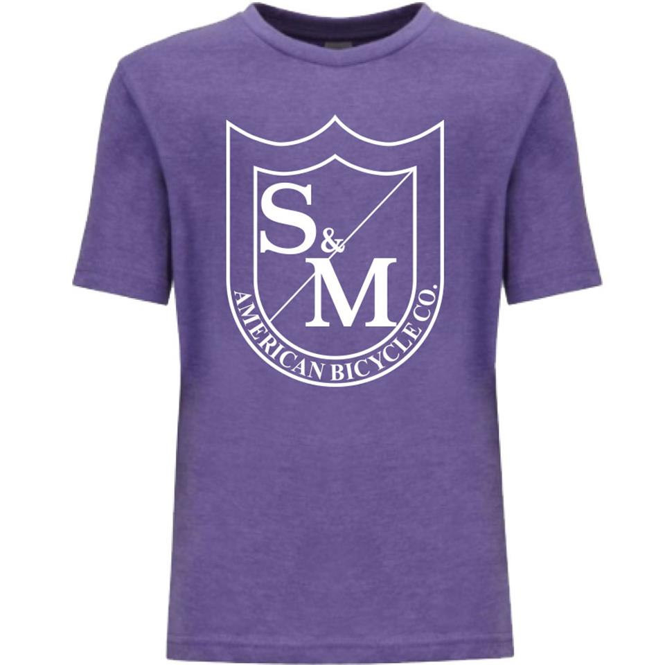 S&M Kids Big Shield T-Shirt - Purple Rush