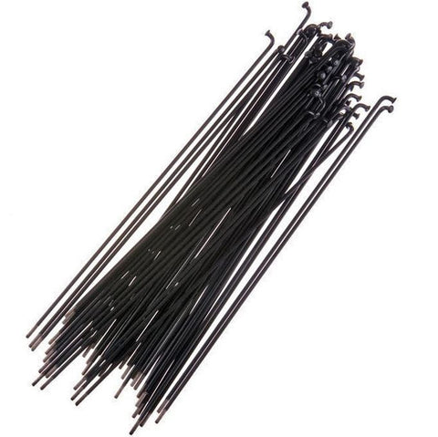 40 Pack 194mm BSD Butted Spokes // Black