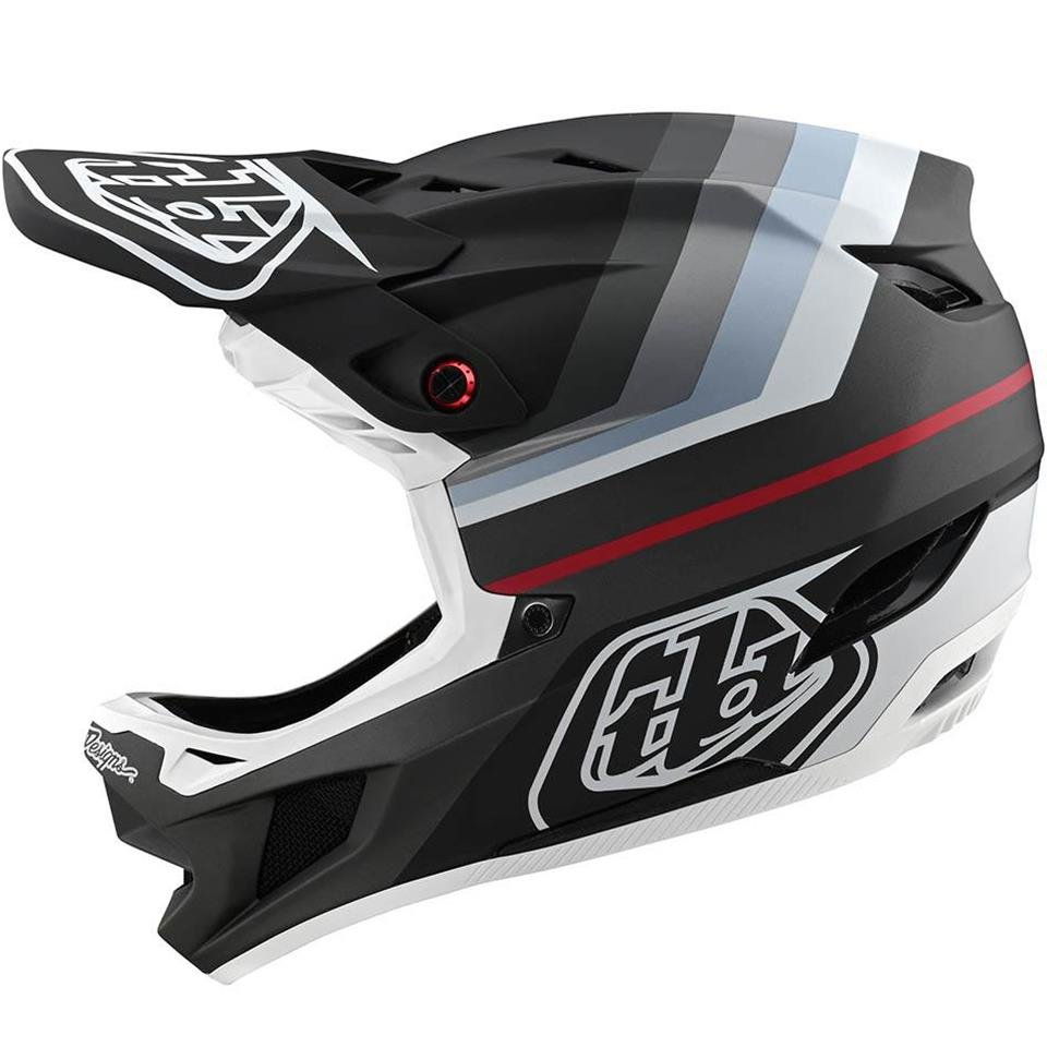 Troy Lee D4 Composite Race Helmet - Mirage Black/Silver
