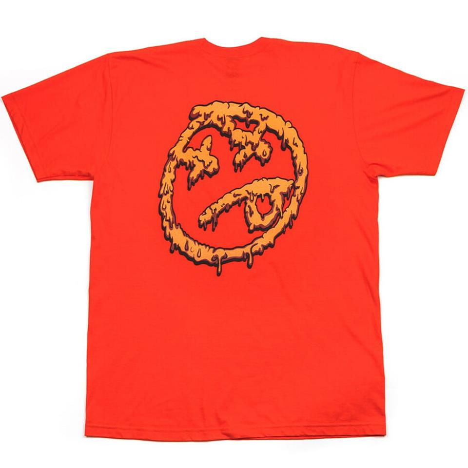 BSD Melting Acid Face T-Shirt - Orange