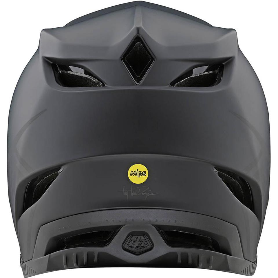 Troy Lee D4 Composite Race Helmet - Stealth Black/Grey