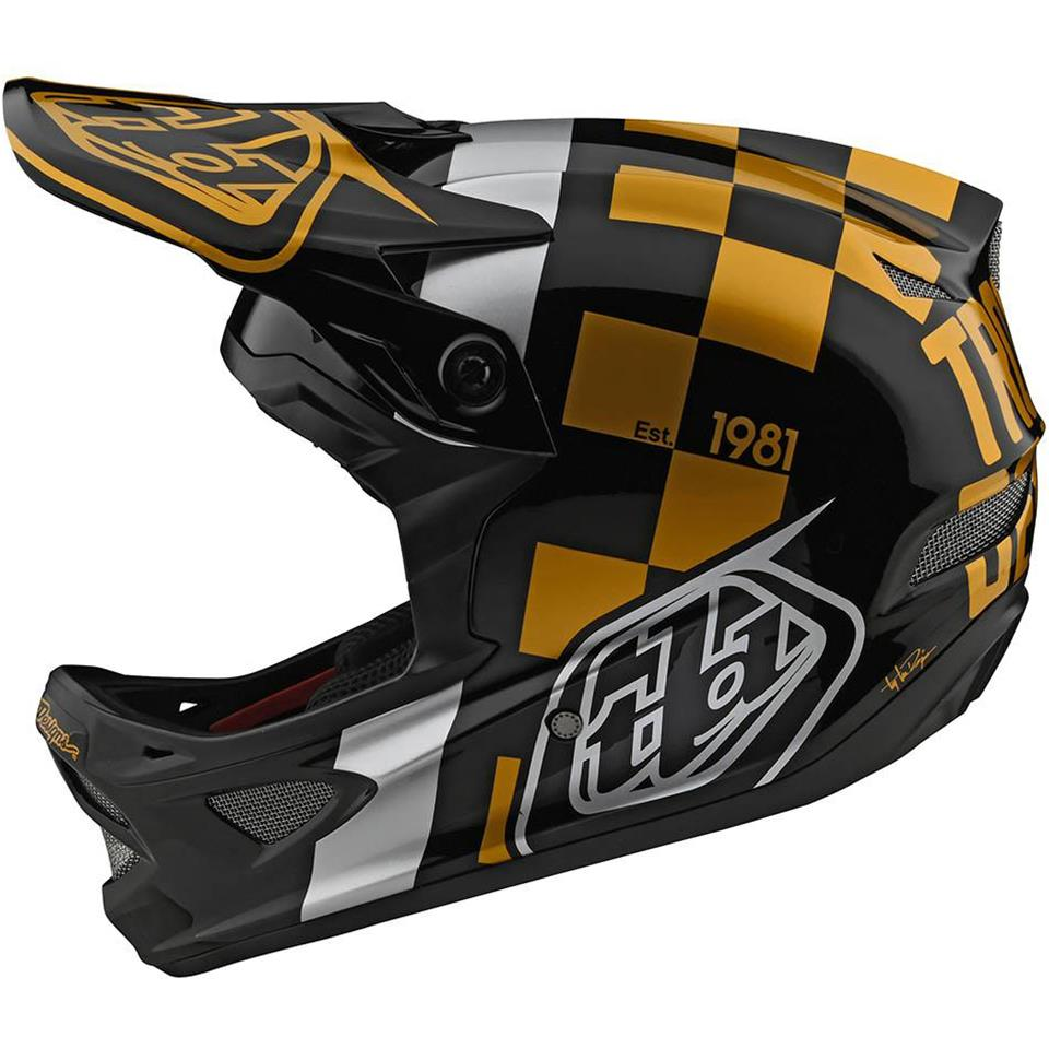 Troy Lee D3 Fiberlite Race Helmet - Raceshop Black/Gold