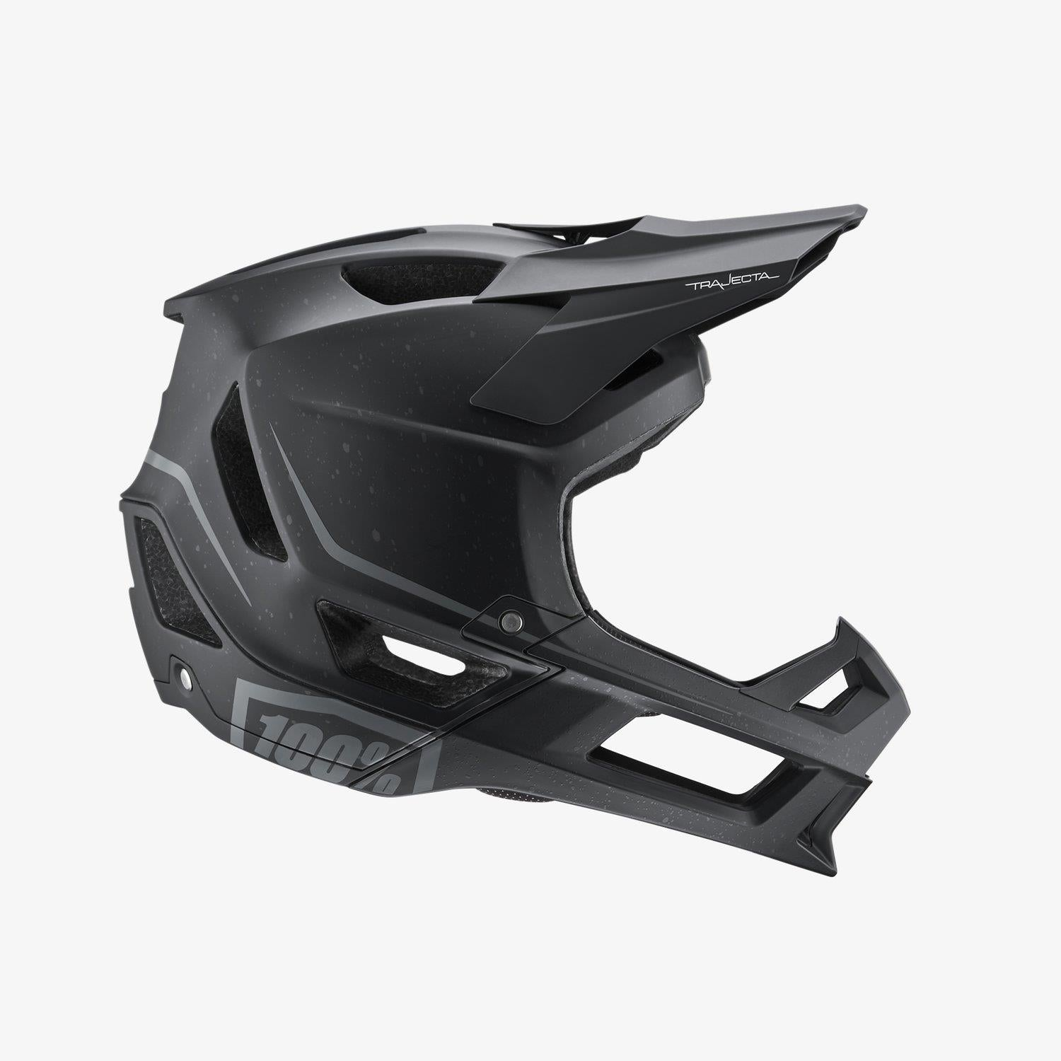 100% Trajecta Race Helmet - Essential Black