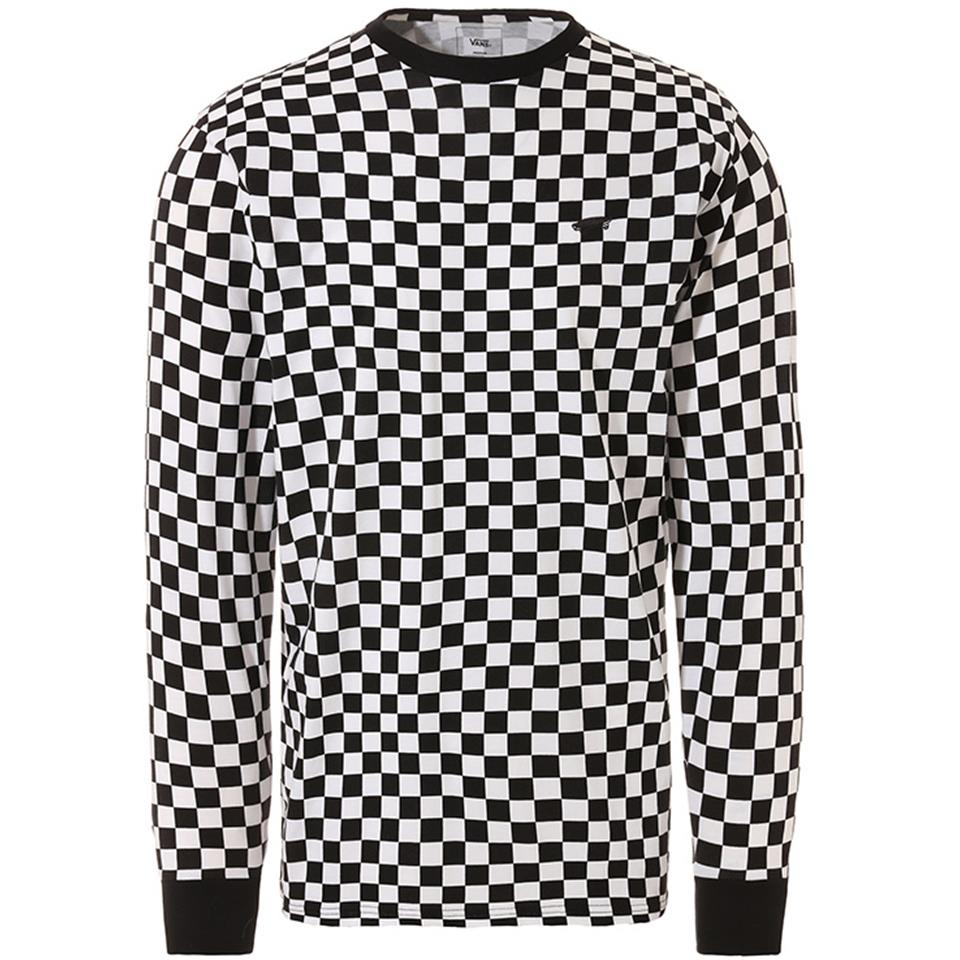 Image of Vans Long Sleeve Skate T-Shirt - Checkerboard