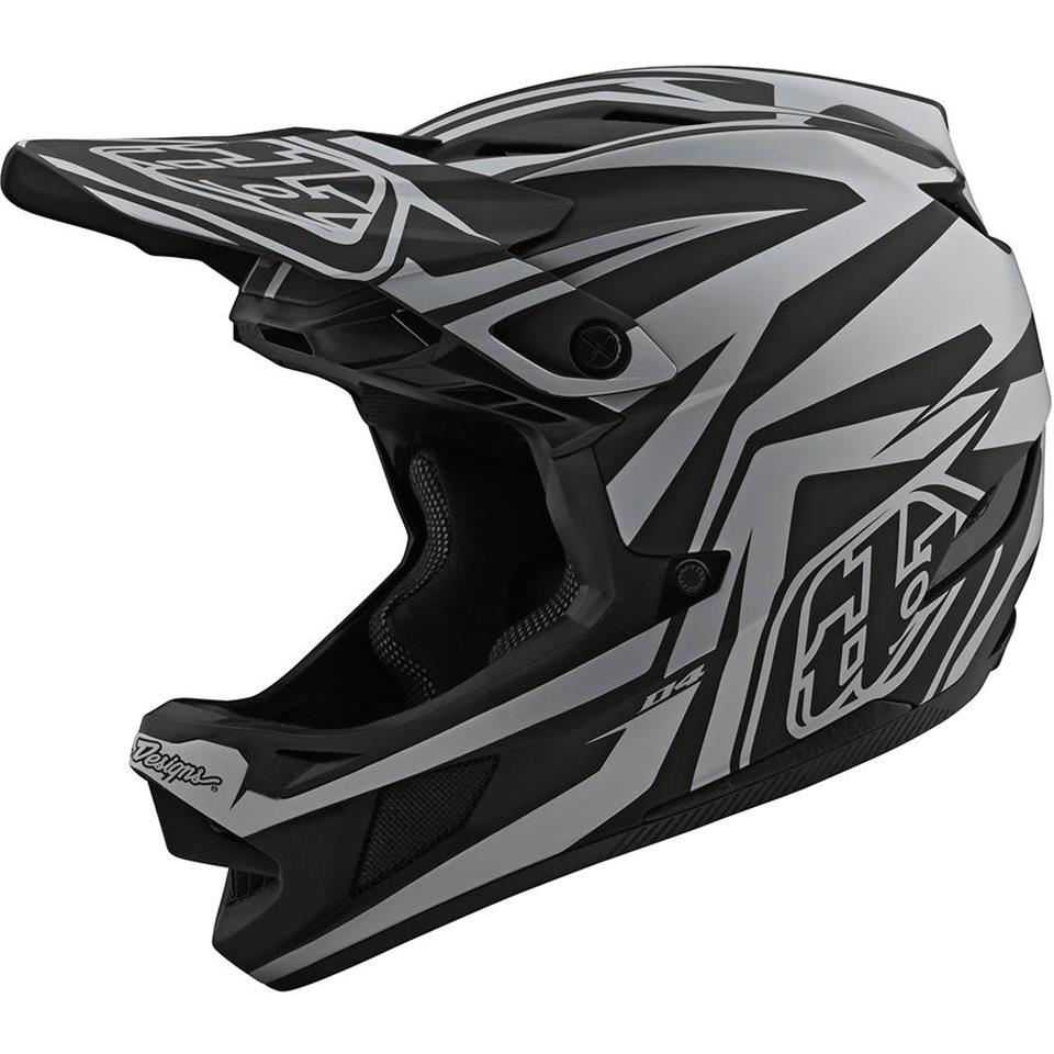 Image of Troy Lee D4 Composite Race Helmet - Slash Black/Silver