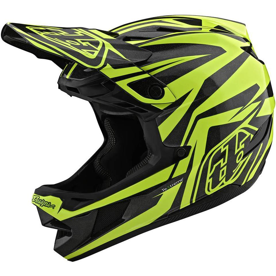 Image of Troy Lee D4 Carbon Race Helmet - Slash Black/Yellow