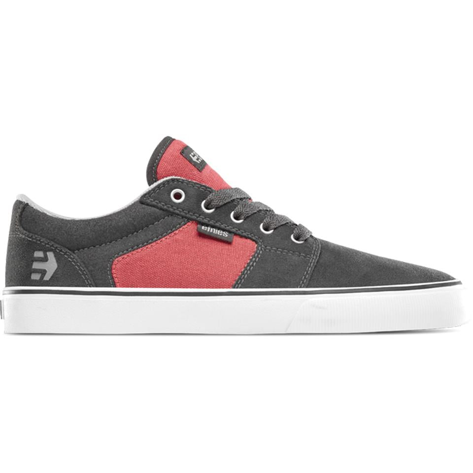 Etnies Barge LS Shoes - Dark Grey/Red