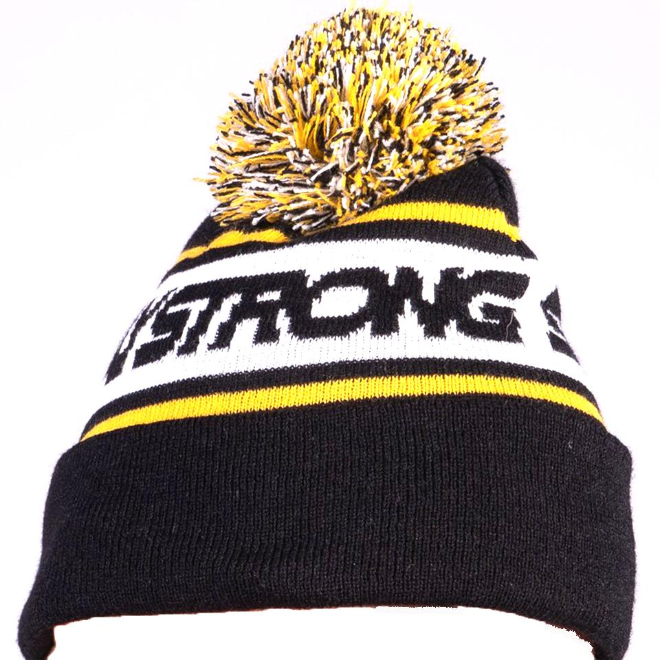 Stay Strong Bobble Beanie - Black