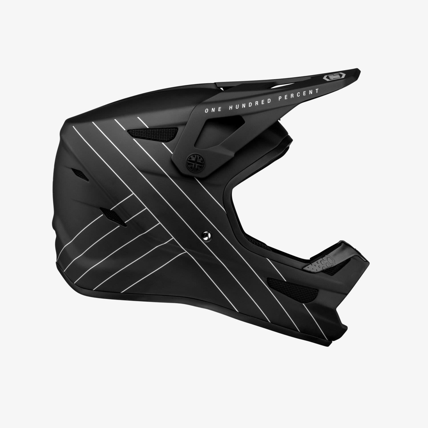 100% Status Race Helmet - Essential Black