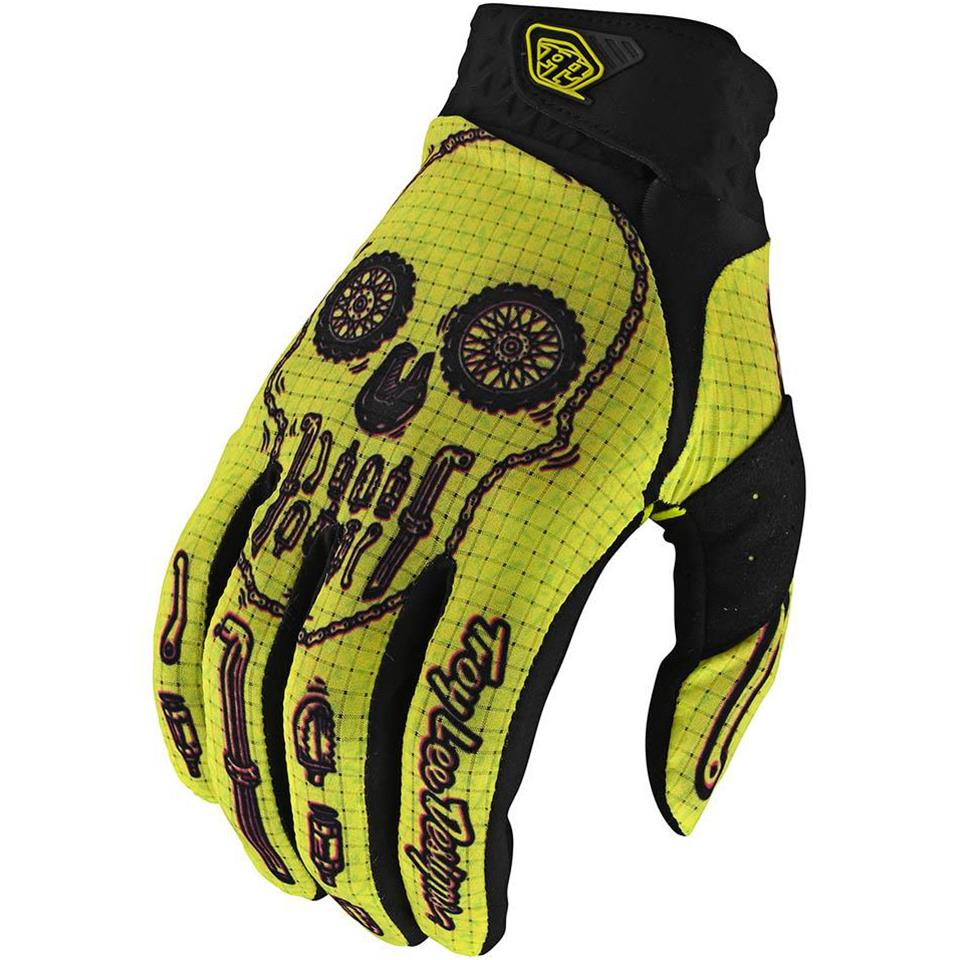 Image of Troy Lee Limited Edition Air Race Glove - Gear Head Yellow