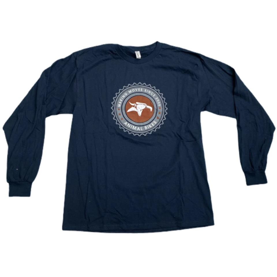 Animal Sprocket Long Sleeve T-Shirt - Navy