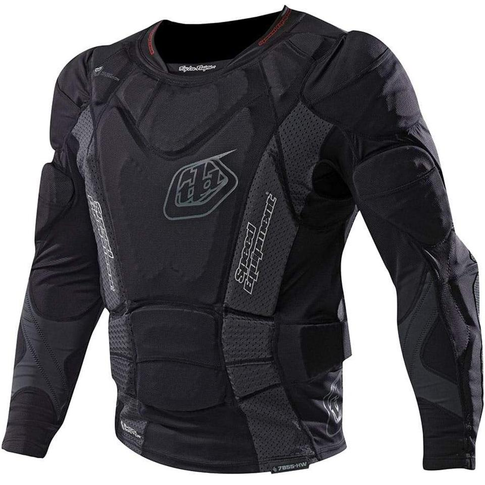 Image of Troy Lee Designs Youth 7855 Upper Protection Long Sleeve Race Shirt - Black