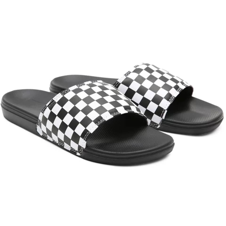 Vans La Costa Slide On Shoes - Black And White Checkerboard