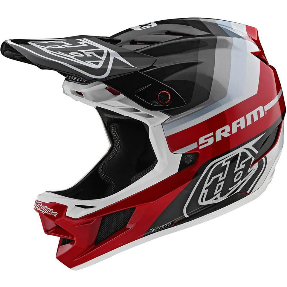Image of Troy Lee D4 Carbon Race Helmet - Mirage Sram Black/Red