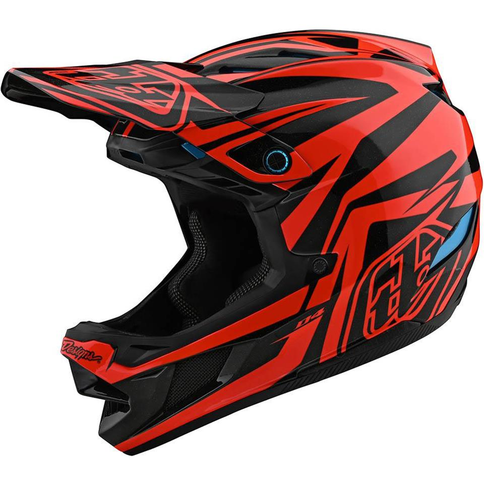 Image of Troy Lee D4 Composite Race Helmet - Slash Orange/Black