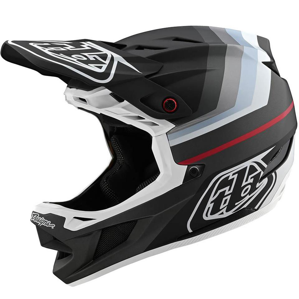 Image of Troy Lee D4 Composite Race Helmet - Mirage Black/Silver