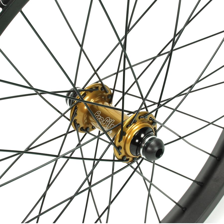 Profile Elite / Cinema 888 / Titanium Spokes Front Custom Wheel